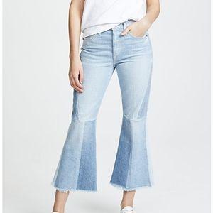 FRAME Denim 'Le Panel' Colorblock Crop Jeans